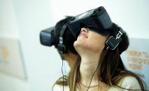 Участники пресс-конференции Школьникам КР предлагают работу в сфере виртуальной реальности в мультимедийном пресс-центре Sputnik Кыргызстан.
