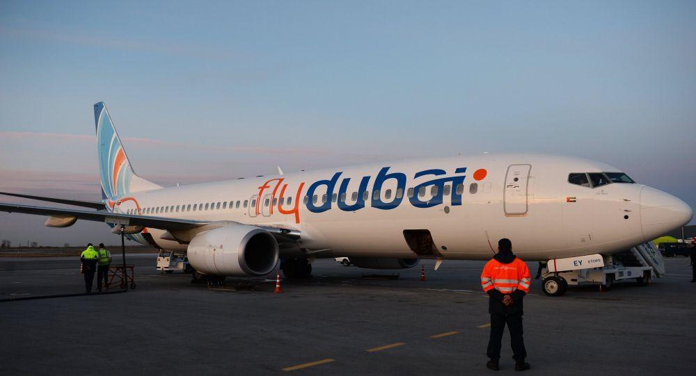Flydubai авиакомпаниянын учагы. Архив