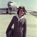 Стюардесса в аэропорту Шереметьево (Москва), 1964 год