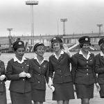 Бортпроводницы в московском аэропорту Домодедово