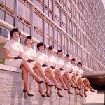 Стюардессы National Airways Corporation в летней униформе, 1959 год