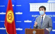 Председатель Государственного комитета информационных технологий и связи КР Алтынбек Исмаилов на брифинге