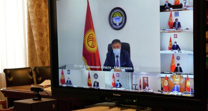 Президент Кыргызской Республики Сооронбай Жээнбеков сегодня, 10 июля, провел онлайн совещание с полномочными представителями Правительства в регионах.