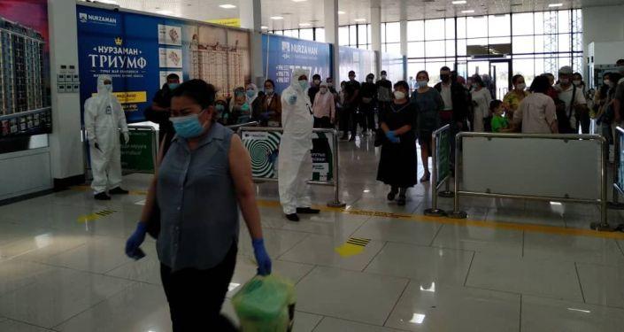 В Международном аэропорту «Ош» 11 июля встретили чартерный рейс авиакомпании «Авиатраффик Компани» по маршруту Москва-Ош.