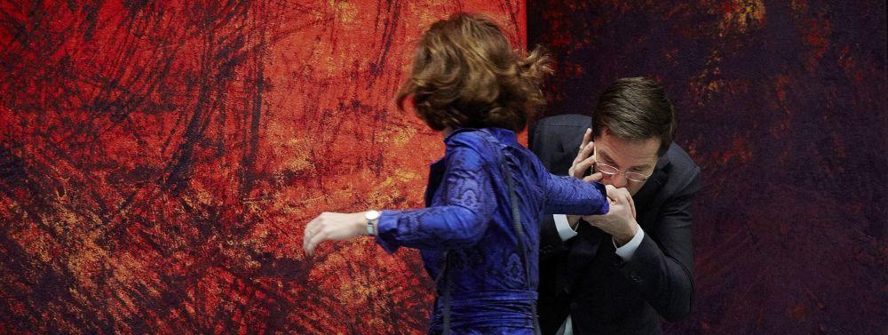Премьер-министр Нидерландов Марк Рютте и председатель палаты Анушка ван Мильтенбург, 2013 год