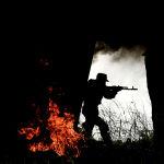 Военнослужащий мотострелкового полка Таманской дивизии на одном из полигонов Западного военного округа в Подмосковье.