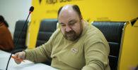 Sputnik Кыргызстан агенттиги техникалык маселер боюнча директору Михаил Рогожин. Архивдик сүрөт