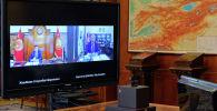 Өлкө башчы Сооронбай Жээнбеков премьер-министр Кубатбек Боронов менен онлайн кеңешме өткөрдү