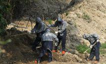Похороны пациентов, умерших от коронавируса. Архивное фото
