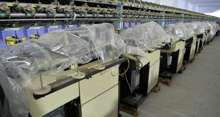 Станки в текстильной фабрики ОсОО Текстиль транс в Чуйском районе Чуйской области.