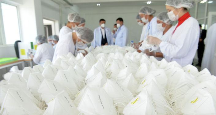 Маски текстильной фабрики ОсОО Текстиль транс в Чуйской области. 16 июля 2020 года