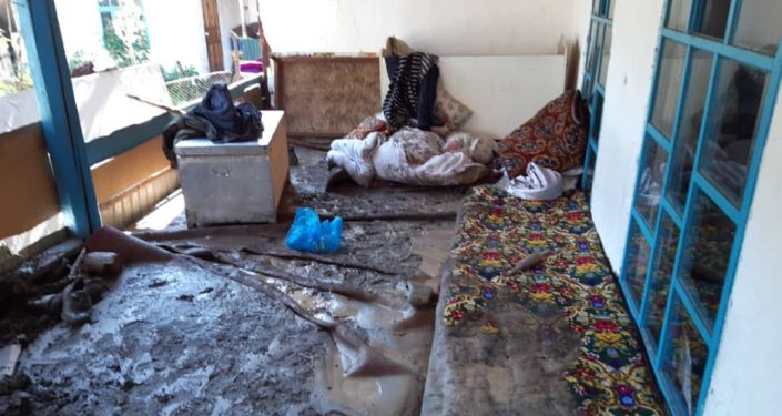 В Базар-Коргонском районе Джалал-Абадской области сель затопил дома и дворы