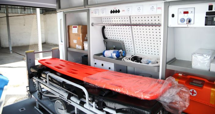 Салон новой машины скорой помощи для Ошской городской службы