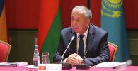 Премьер-министр Кыргызской Республики Кубатбек Боронов в ходе очередного заседания Межправительственного совета Евразийского экономического союза, которое проходит в городе Минске (Республика Беларусь).