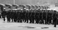 Советские милиционеры во время работы на XXII Олимпийских играх