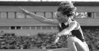 Татьяна Колпакова, аялдардын узактыкка секирүү боюнча Олимпиада чемпиону. Архив