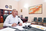 Премьер-министр Кыргызской Республики Кубатбек Боронов на заседании Республиканского штаба. Архивное фото