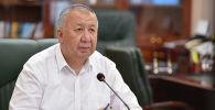 Премьер-министр Кыргызской Республики Кубатбек Боронов на очередном заседании Республиканского штаба
