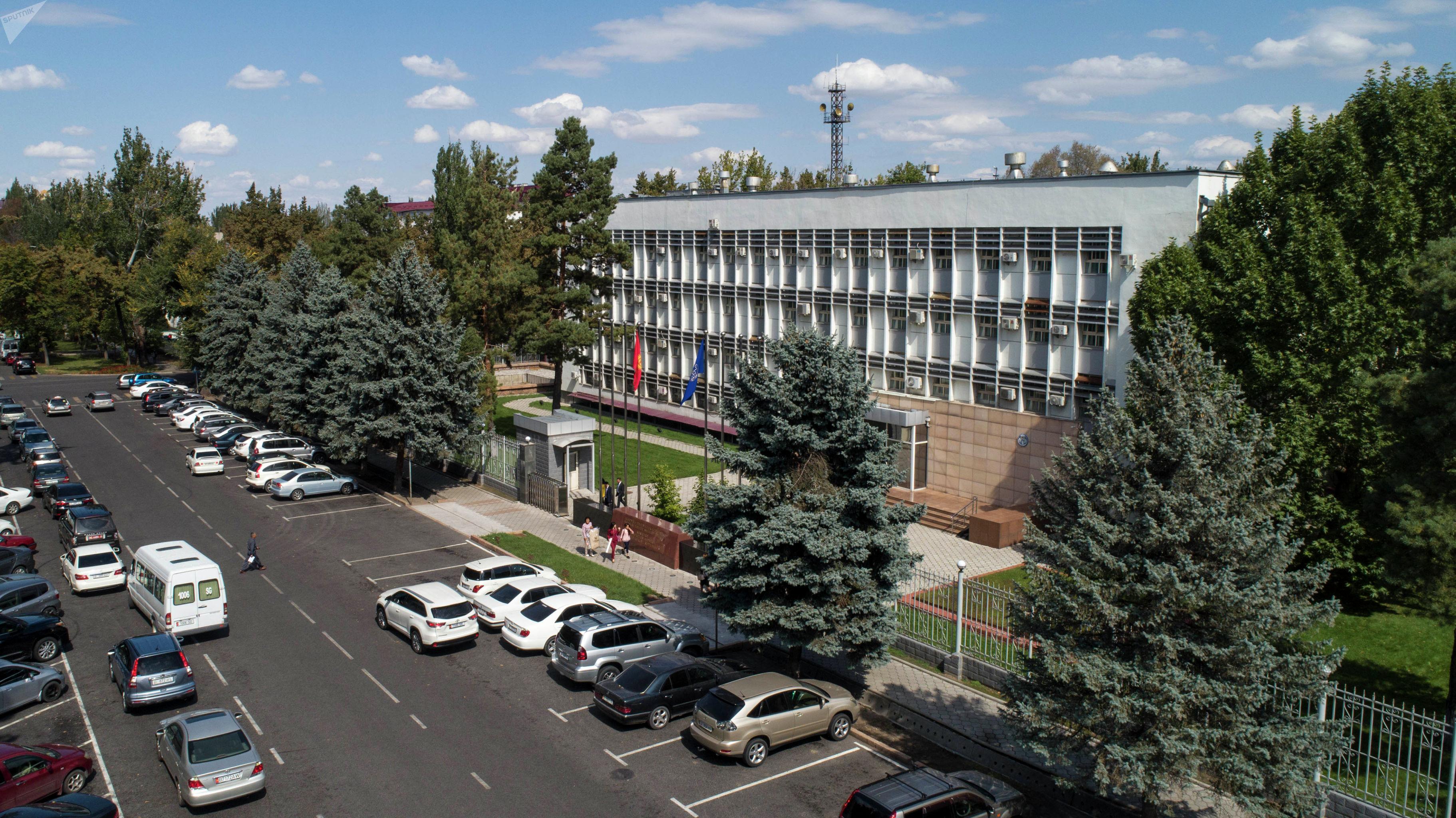 Вид на здание министерства иностранных дел КР в Бишкеке