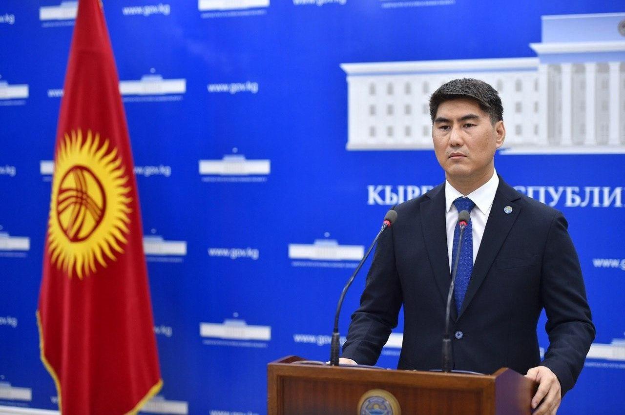Министр иностранных дел КР Чингиз Айдарбеков на брифинге 12 мая 2020 года
