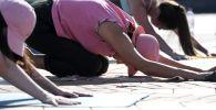 Утренние занятия по йоге. Архивное фото