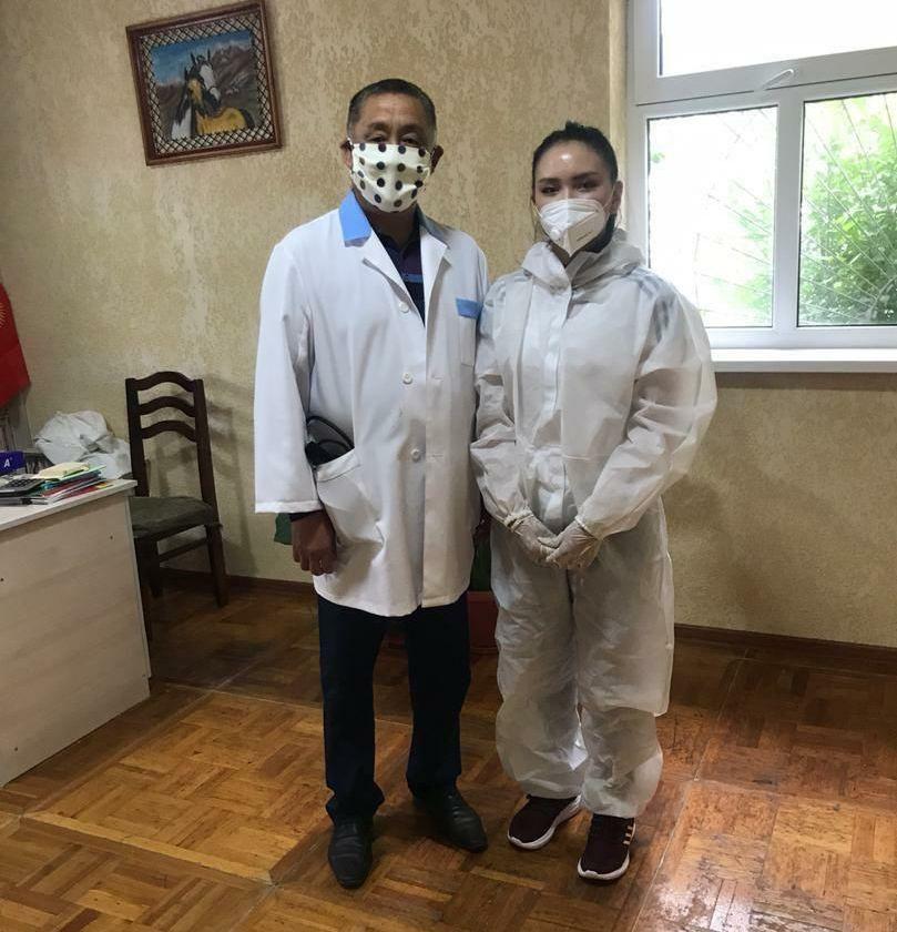 Волонтер из города Нарын Нурайым Шамшыбекова