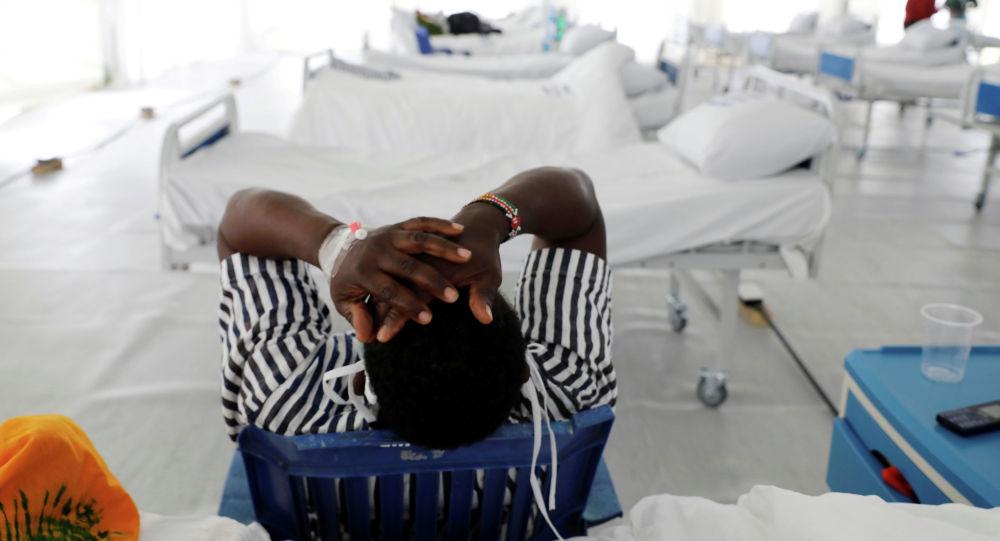Кениядагы футбол стадионунда курулган госпиталдагы бейтап