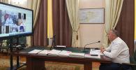 Премьер-министр Кубатбек Боронов объектилердин капиталдык курулуш долбоорлору жаатында өткөрүлгөн кеңешме учурунда