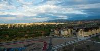 Территория нового парка здоровья вдоль проспекта Чингиза Айтматова в Бишкеке. Архивное фото