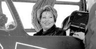 Валентина Матвиенко в кабине штурмовика на авиабазе Кант. Архивное фото