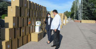 Бүгүн вице-премьер Аида Исмаилова гуманитардык жардамды кабыл алуу жана ооруканаларга бөлүштүрүү иш-чарасы учурунда