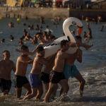 Пляж в испанском городе Кадис