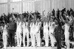 Чемпионы мира в командном зачете по гимнастике - сборная СССР. Архивное фото