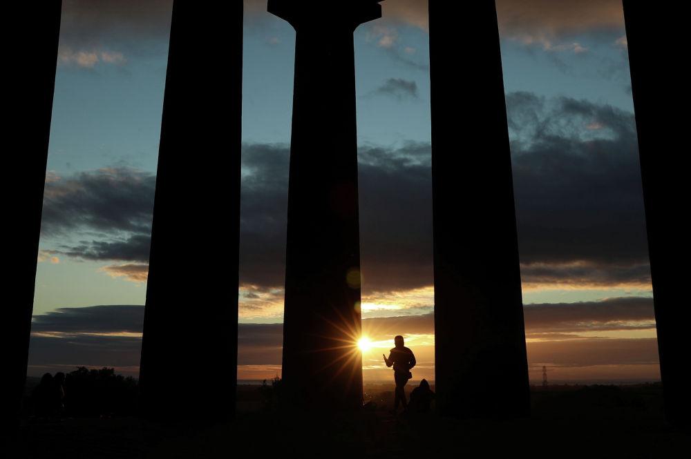Восход солнца в британском графстве Дарем