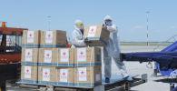 Бишкек шаарына чартердик рейс менен ар бири 10 литрден болгон 78 кычкылтек концентратору жеткирилди