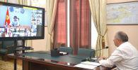 Премьер-министр Кубатбек Боронов Россиядан келген медицина кызматкерлери менен сүйлөшүү учурунда