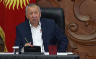 Премьер-министр КР Кубатбек Боронов на рабочем совещании о текущем исполнении бюджета на 2020 год