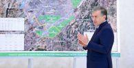 Өзбекстандын президенти Шавкат Мирзиёев өлкөнүн борбору Ташкент шаарын кеңейтүү боюнча долбоор менен таанышуу учурунда