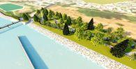 Эскизы проекта крупной зоны отдыха на берегу реки Ак Буура в городе Ош