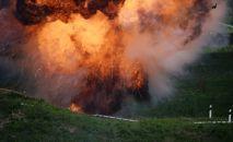 Взрыв во время тактико-специальных учений. Архивное фото
