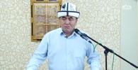 Заместитель муфтия Кыргызстана Замир кары Ракиев во время проповедей