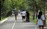 Прохожие на одной из улиц Бишкека