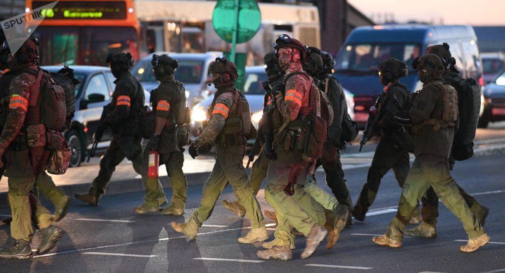 Минск шаарындагы милиция кызматкерлери