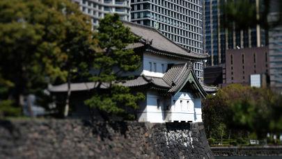 Комплекс зданий Императорского дворца в городе Токио. Архивное фото