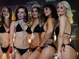 Победительница конкурса красоты Miss MAXIM - 2020 Октябрина Максимова и участницы финала
