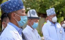 Медики инфекционного отделения Баткенской областной больницы. 12 августа 2020 года