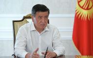 Президент Кыргызской Республики Сооронбай Жээнбеков дал очередное интервью радиостанции Биринчи радио Общественной телерадиовещательной корпорации Кыргызской Республики.