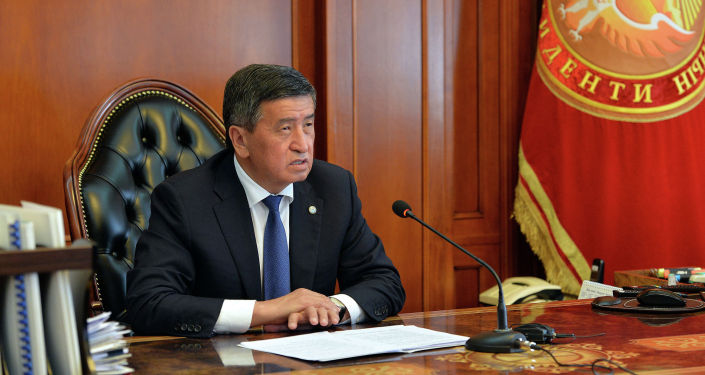 Президент Кыргызской Республики Сооронбай Жээнбеков сегодня, провел онлайн-совещание с Премьер-министром Кыргызской Республики Кубатбеком Бороновым. 17 августа 2020 года