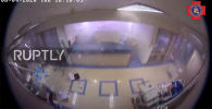 Разрушение госпиталя Святого Георгия во время взрыва в порту Бейрута (Ливан) зафиксировали камеры внутреннего видеонаблюдения.