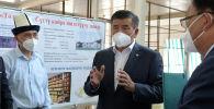 Президент Сооронбай Жээнбеков Кочкор районундагы сүт иштетүүчү ишкананын курулушу менен таанышты